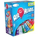 Airheads Bars, Chewy Fruit Candy, Variety Pack, Valentines Candy, 60 Count