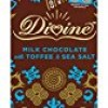 Divine Chocolate Bar, 38% Milk Chocolate with Toffee and Sea Salt, 3.5 Ounce (Pack of 10)