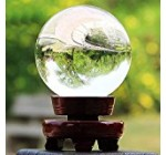 Sumnacon Crystal Sphere Ball, Decor Photography Ball, Clear Contact Juggling Ball, Magic Crystal Healing Ball for Meditation Divination & Interpretation with Wooden Stand and Gift Box(60mm / 2.36 in)