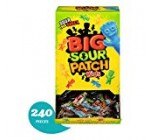 240 Rely Bulk Sour PATCH Youngsters Sweet and Bitter Halloween Candy, Trick or Handle Individually Wrapped Packs
