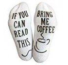 """""""If You Can Study This, Deliver Me."""" (Wine, Chocolate, Espresso) Footie Socks in Magnificent Combed Cotton for Women and Gentlemen – the Ideal Present for Xmas, Birthdays, or Holidays (Espresso)"""