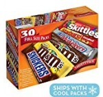 M&M'S, SNICKERS, 3 MUSKETEERS, SKITTLES & STARBURST Full Dimensions Candy Variety Blend, 30 Rely