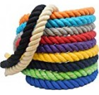 Ravenox Normal Twisted Cotton Rope | (Chocolate)(1/2 Inch x 640 Feet) | Made in The Usa | Sturdy Triple-Strand Rope for Athletics, Décor, Pet Toys, Crafts, Macramé & Indoor Outside Use