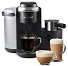 Keurig K-Cafe Solitary-Serve K-Cup Espresso Maker, Latte Maker and Cappuccino Maker, Comes with Dishwasher Protected Milk Frother, Coffee Shot Ability, Compatible With all Keurig K-Cup Pods, Dark Charcoal