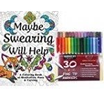 Sargent Artwork Vintage Wonderful Tip Marker Pens in a Situation, Established of 30 and Perhaps Swearing Will Help: An Adult Coloring E-book of Enthusiasm, Puns & Cursing, Coloration and Laugh Your Way to Less Pressure!