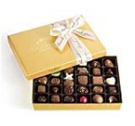 Godiva Chocolatier Assorted Chocolate Gold Present Box with Thank You Ribbon, Chocolate Gifts, Great for Gifting, Quality Chocolate Candy, Gifts for Her, 36 pc