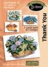 Boxed Gift Cards Thank You-Flower Basket (12 Pack)