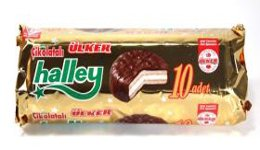 Ulker Halley - Chocolate covered Marshmallow Sandwichs - 10 pieces