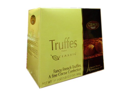 Cemoi Chocolatier Fancy Truffes Holiday Thanksgiving Christmas Chocolate Truffles Gift Box - 28.2 oz